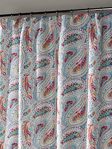 Perfectly Paisley Oceana Fabric Shower Curtain by M.Style, 72