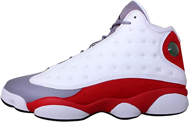 Nike Mens Air Jordan 13 Retro Grey Toe Leather Basketball Shoes