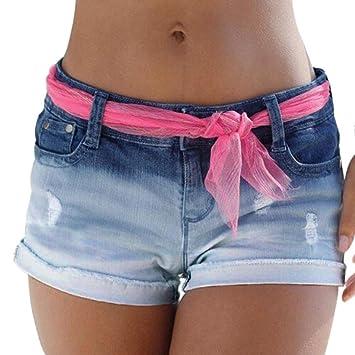 Women/'s Fahsion Casual Pants Summer High Waisted Tie Short Slim Beach Shorts New