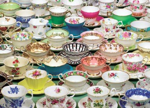Cobble Hill Tea Cups Jigsaw Puzzle (1000 Piece)