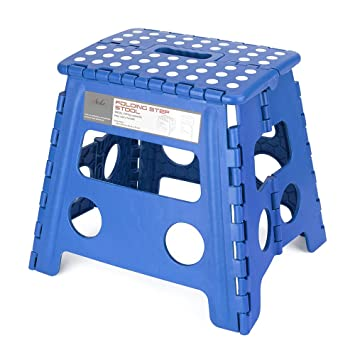 Acko Folding Step Stool - 13 inch Height Premium Heavy Duty Foldable Stool For Kids u0026  sc 1 st  Amazon.com : plastic step stool for kids - islam-shia.org