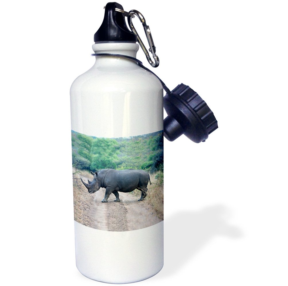 21 oz 3dRose wb/_20116/_1 South African Rhino side view-Sports Water Bottle White