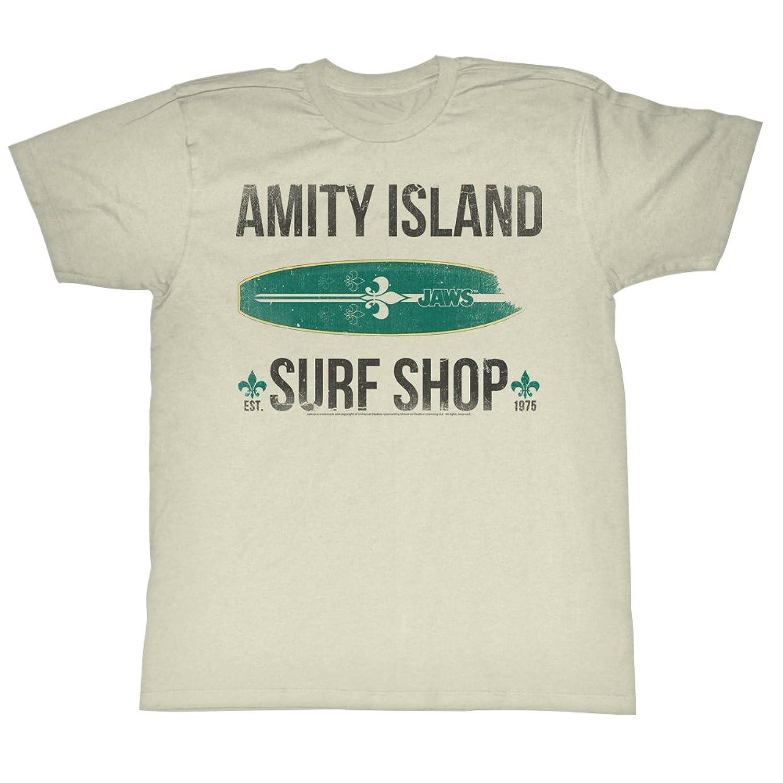 Jaws 1970's Shark Thriller Spielberg Movie Vintage Style Surf Shop Adult T-Shirt