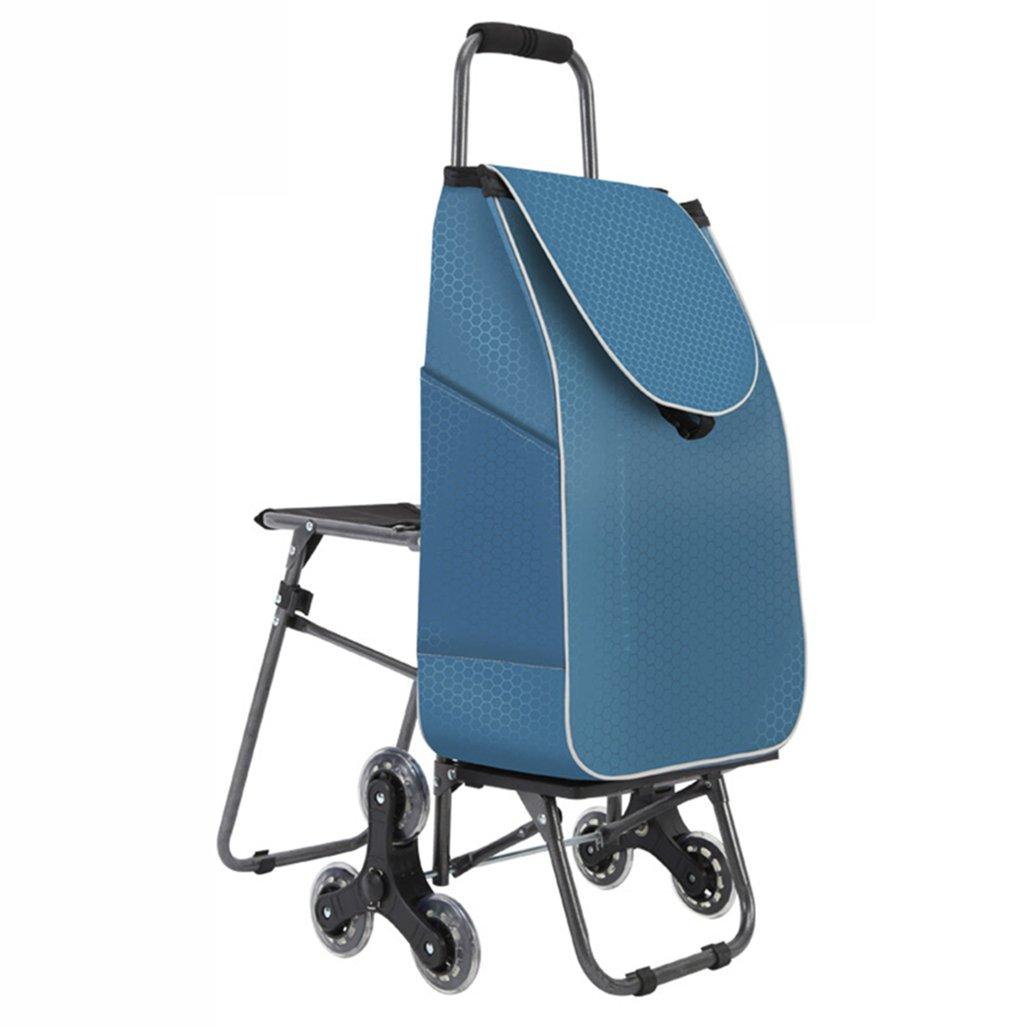 HTDZDX ショッピングカート階段折りたたみ荷物カートトロリー車の椅子ポータブルショッピングカートトロリーカート1秒折りたたみ簡単保管   B07R76GW5K