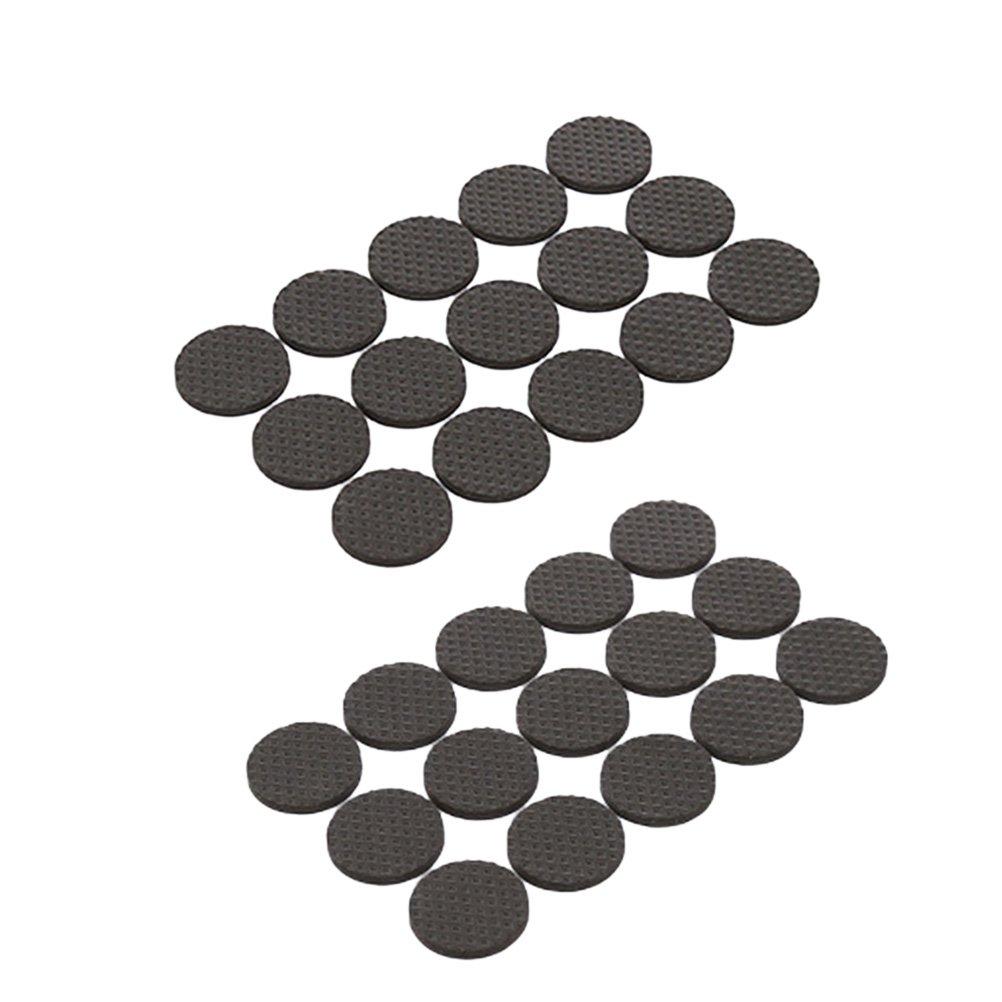 Clispeed Feltrini per Sedie Rotondo Feltrini Adesivi Antirumore per Mobilia Tavolo Protezione Antigraffio Autoadesiva 30 Pezzi (Nero Rotondo)
