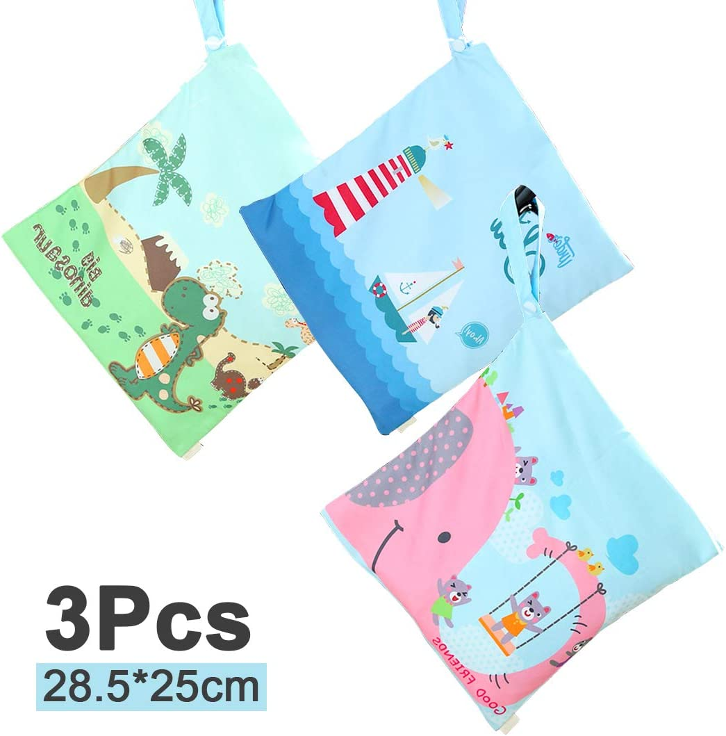 Perfect Gift for Home Trip Beach Gym Travel Bag Organiser color2 Nappy Bag HOTLIKE Wet Dry Bag Reusable Produce Bags Wet Suit Bag Waterproof Washable Hanging with Zipper Pockets