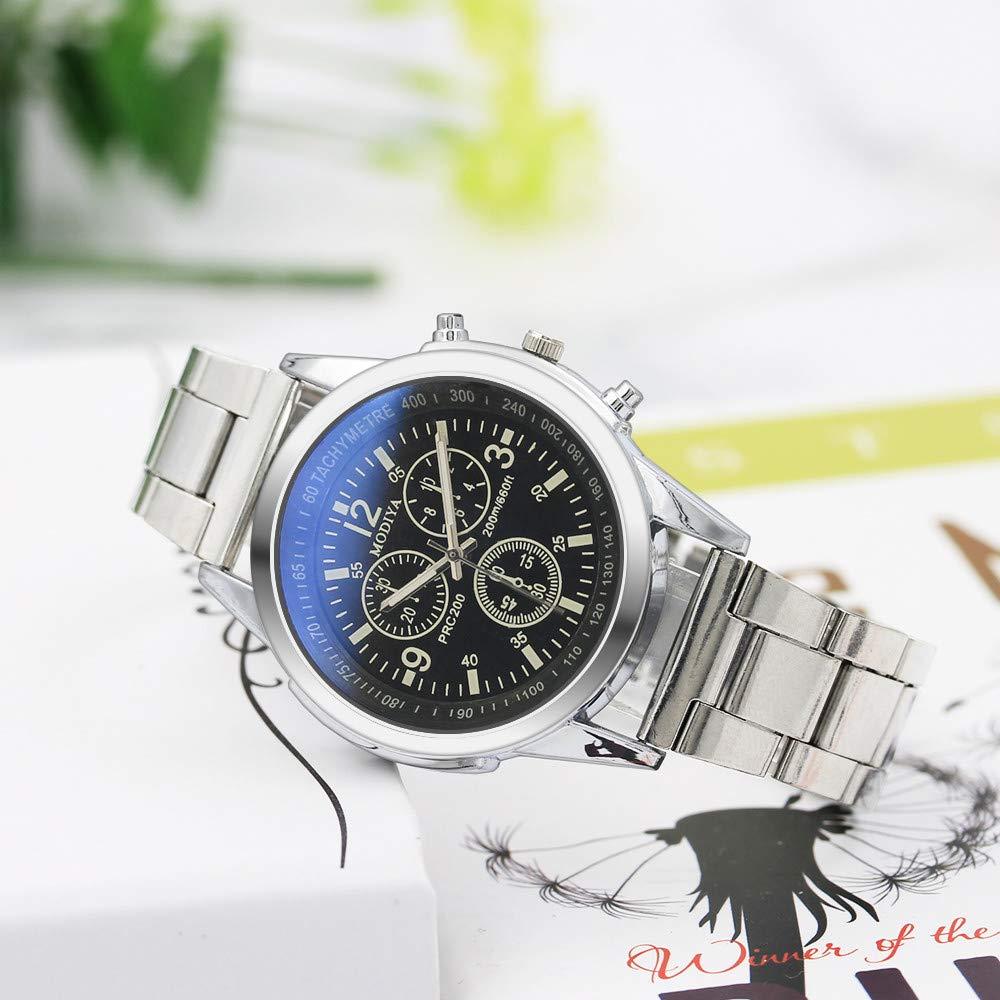 MURTIAL Stainless Steel Sport Quartz Hour Wrist Analog Watch Wrist Watch Fashion Comfortable Wristwatch(Large(Man),Free) by MURTIAL Watch (Image #3)