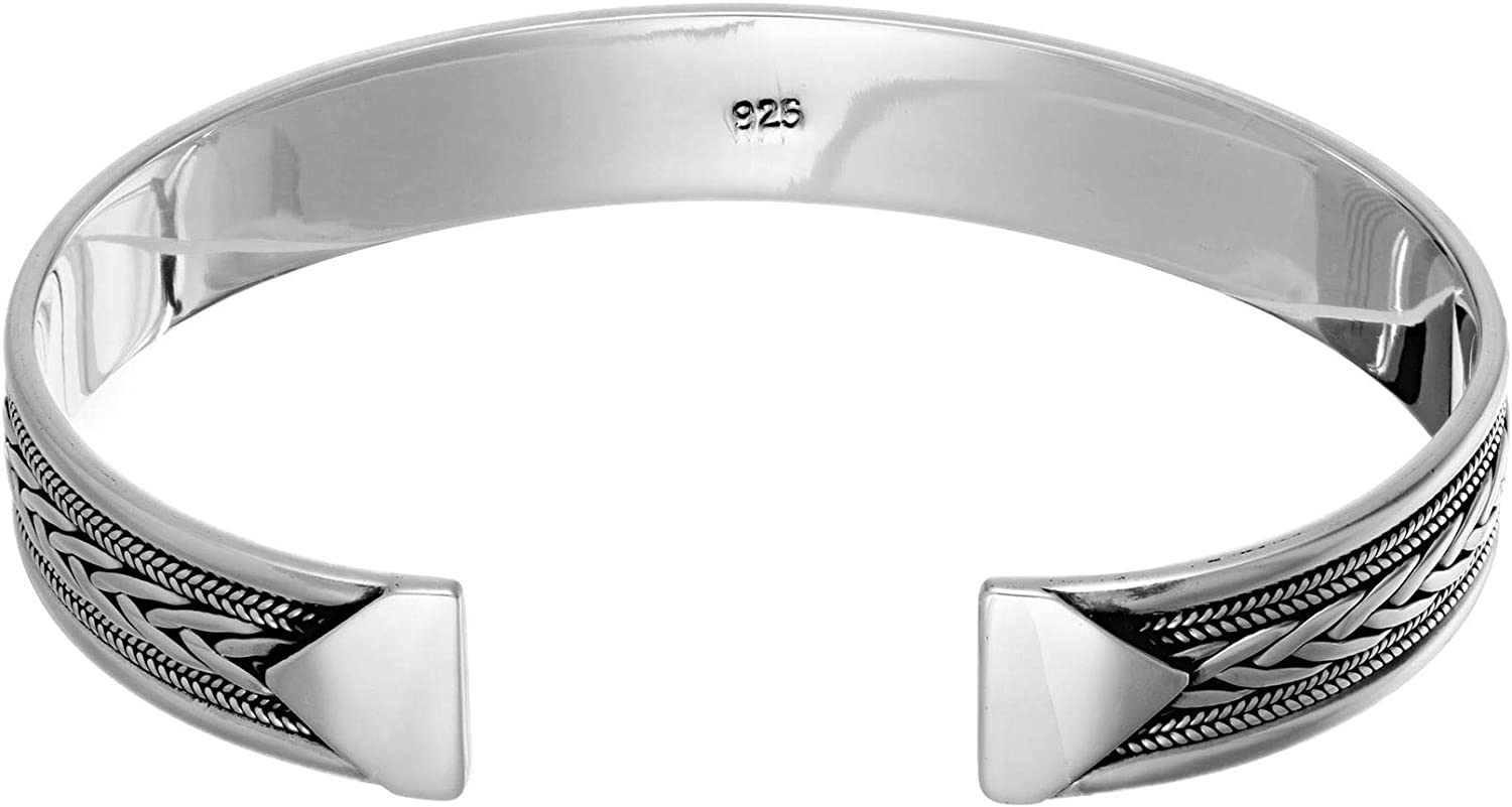 Super Cute 925 Silver Double Wrapped Pressed Celtic Bangle \u2022 Extra Small