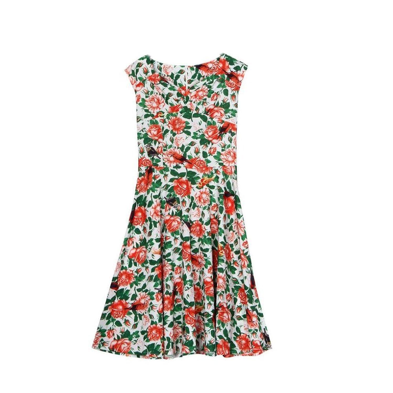 Internet Damen Kleid Floral Partei Sommer Strand Kleid günstig ...