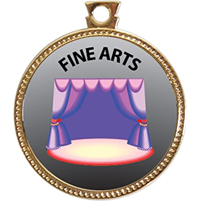Keepsake Awards Fine Arts Award, 1 inch Dia Gold Medal Artistic Skills Collection: Toys & Games