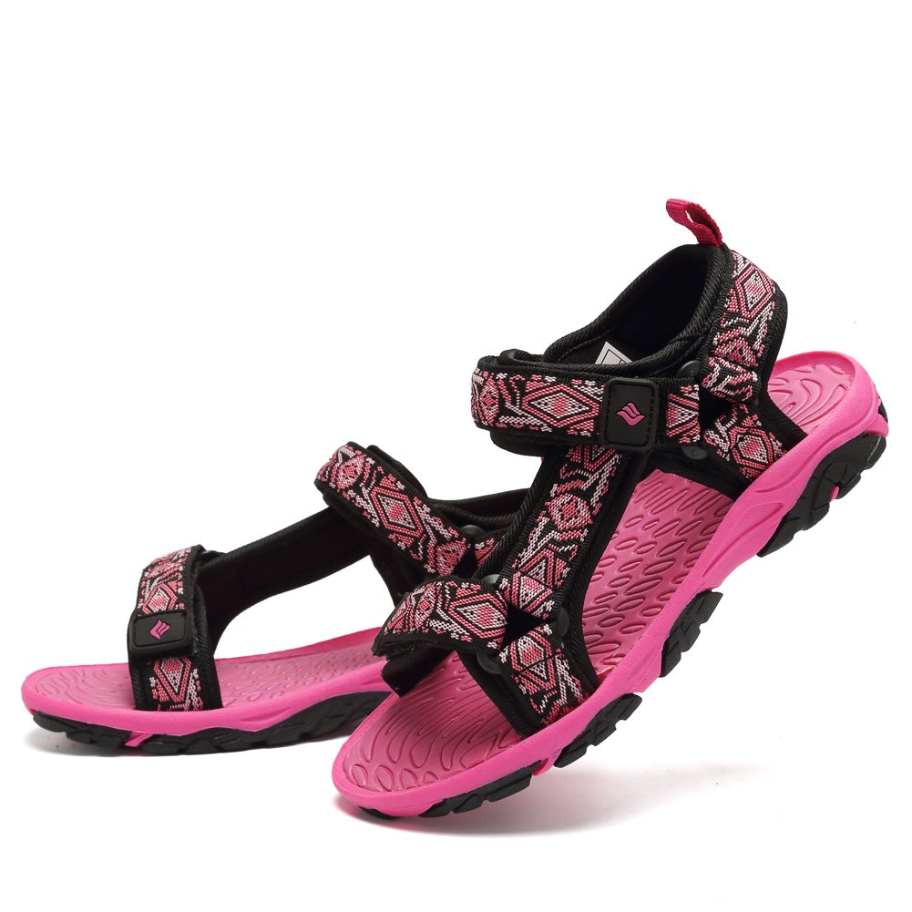 CIOR Fantiny Kids Athletic Sandals Boy and Girls' Two-Straps Open Toe Beach Sports Sandals (Little Kid/Big Kid) SAC101 Rose 27 by CIOR (Image #5)