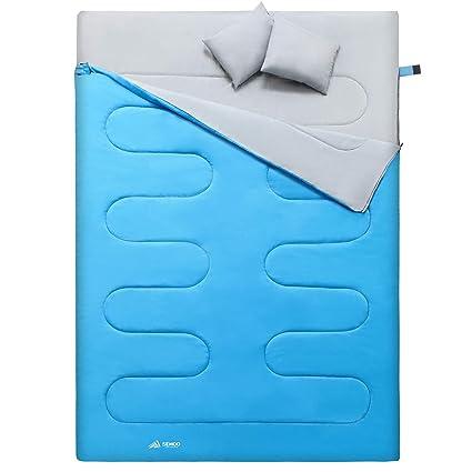 Semoo - Saco de Dormir para 2 Personas, Resistente al Agua, Ligero, con