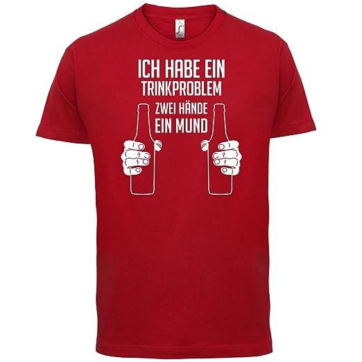 Ich habe ein Trinkproblem. Zwei Hände ein Mund - Herren T-Shirt - 13 Farben:  Amazon.de: Bekleidung
