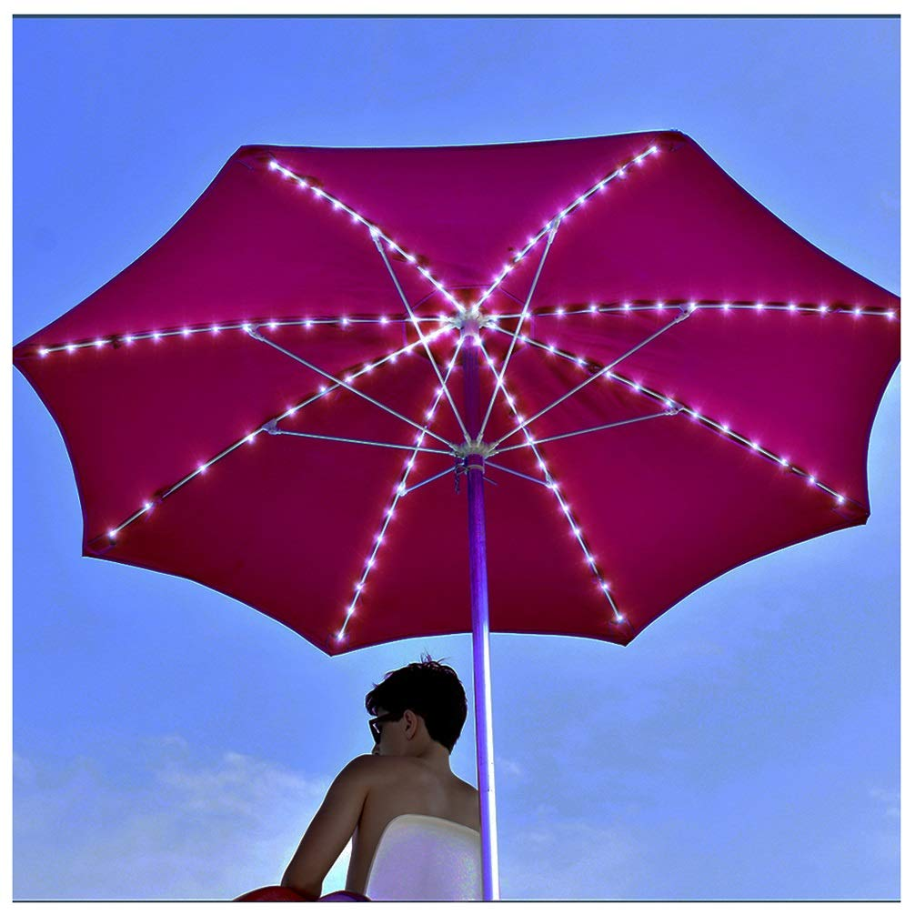 LAMPSJN String Lamp Garden Umbrella Lamp 104 LED 8 Lighting Modes, with Remote Control Battery-Powered Waterproof Function 8 String Lights, for Indoor and Outdoor, Excluding Warm White Battery by LAMPSJN
