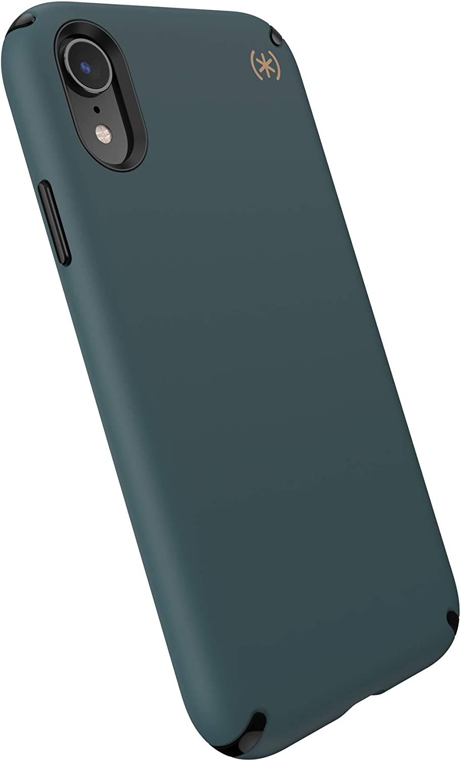 Speck Products Presidio2 PRO Case, Compatible with iPhone XR, Terrain Green/Black/Caramel Brown (136254-9145)