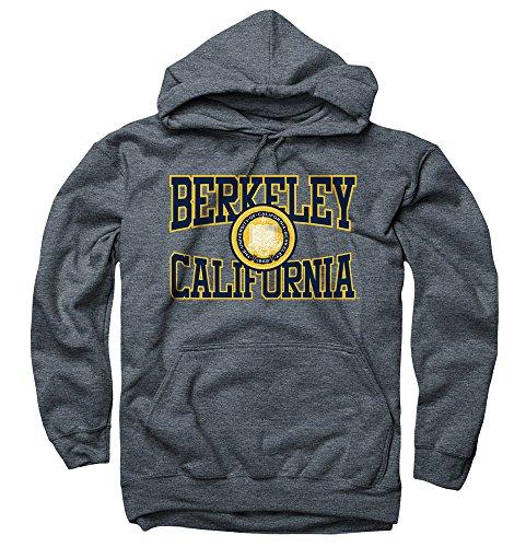Men's UC Berkeley 3 Color Seal Berkeley California Cutout Hoodie Sweatshirt S - Berkeley Hoodie Cal
