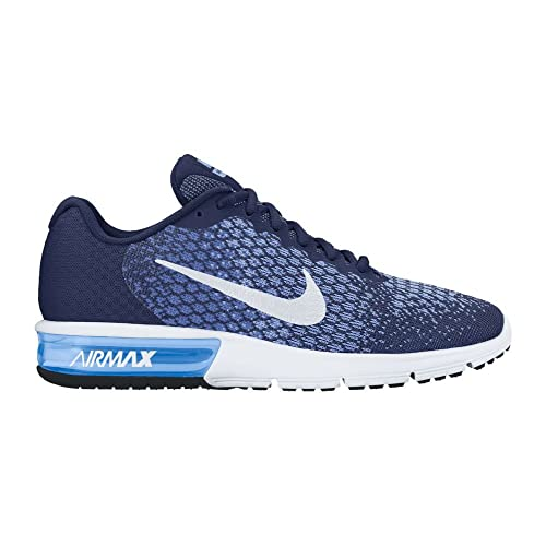 0f65cca5399 Nike Women s Air Max Sequent 2 Binary Blue White Comet Blue Running Shoe  6.5 Women US  Amazon.co.uk  Shoes   Bags