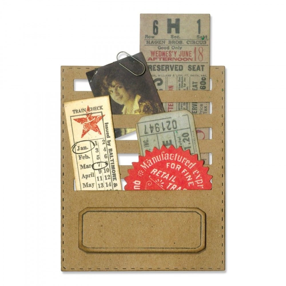Sizzix 662697 Fustella Thinlits-Slot in Sequenza di Tim Holtz, Acciaio,, 19.101 x 14.4 x 0.4 cm Ellison