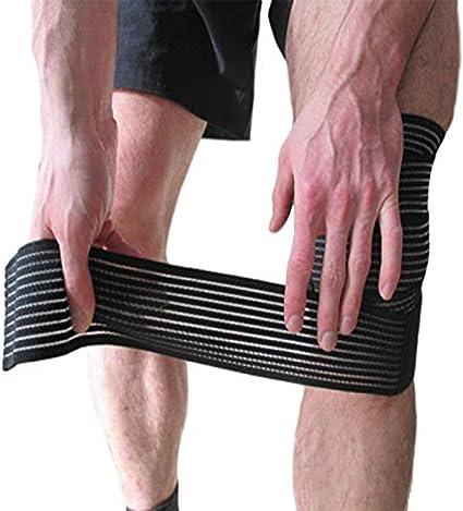 Amazon Com Anmkot 2pcs Black Elastic Breathable Knee Pain Relief
