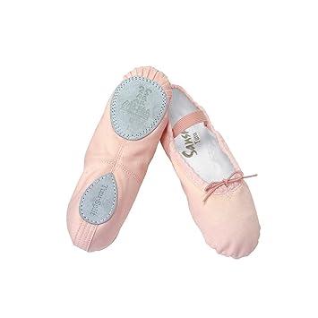 Sansha 5C Tutu-Split Zapatillas de Ballet de Media Punta para Adulto, Lona: Amazon.es: Deportes y aire libre