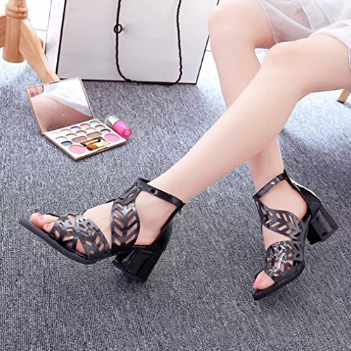Size Shoes 6 Block 2 up Lace Wedge Toe Ladies Heel Slingback Black Glitter Chunky Sandals Peep Summer White Wedding Black Womens for Leather Lolittas Bridesmaid g17WIpq6wn