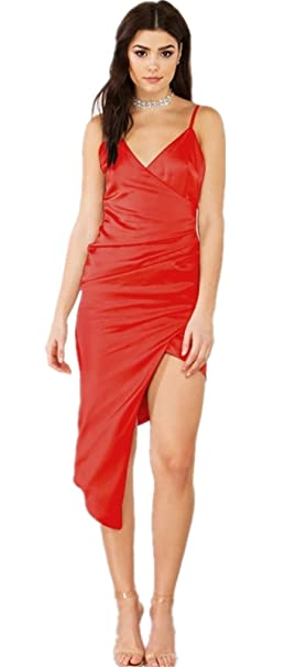 Amazon vestidos tubo rojos