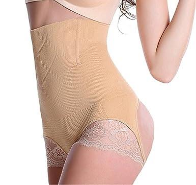 90aa3b3421666 HOLYSNOW Women Open Crotch Bodysuit Belly Fat Trainer Booty Lifters Beige S