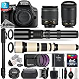Holiday Saving Bundle for D3300 DSLR Camera + AF-P 70-300mm VR Lens + 650-1300mm Telephoto Lens + AF-P 18-55mm + 500mm Telephoto Lens + 2yr Extended Warranty + 32GB Class 10 - International Version