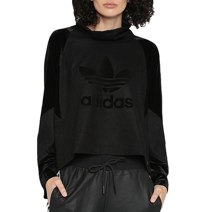 best service 11abb 2fec1 adidas - Felpa con Cappuccio - Maniche Lunghe - Donna Black 44 Amazon.it  Abbigliamento