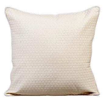 45c05b761 The HomeCentric Blanco marfil Fundas para Cojines 60 x 60 cm, Cuero ...