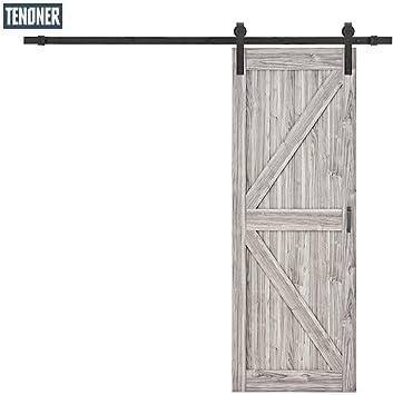 Tenoner 30 pulgadas x 84 pulgadas gris marco K puerta corredera de granero, con kit de herramientas para puerta de granero: Amazon.es: Bricolaje y herramientas