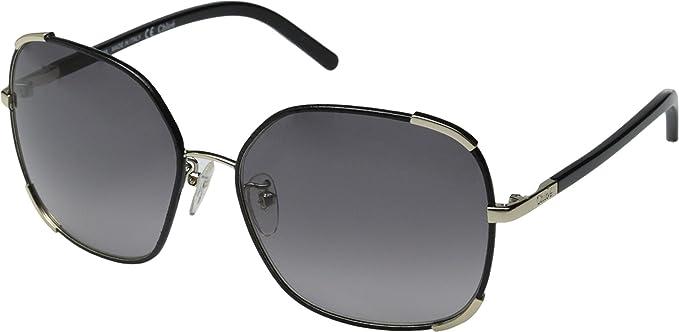 102a87e450b Amazon.com  Chloe Women s Nerine Square Gold Black Sunglasses  Clothing