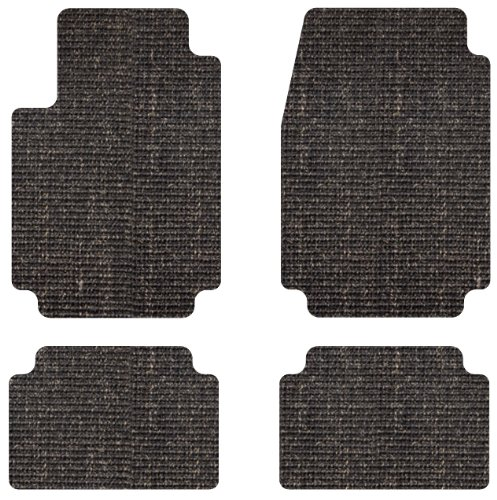 Intro-Tech Sisal Front and Second Row Custom Floor Mats for Select Chevrolet Impala Models - Natural (Black)