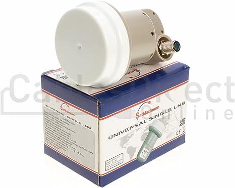 Universal Ku-Band Single LNBF 9.75//10.6KU Dual Output Full HD Digital KU LNB Satellite Receiver High Band Low Band