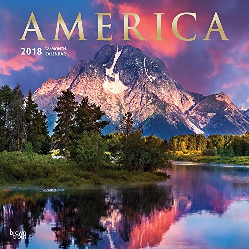 America 2018 12 x 12 Inch Monthly Square Wall Calendar with Foil Stamped Cover, USA United States Scenic Continental National Nature (Multilingual Edition)