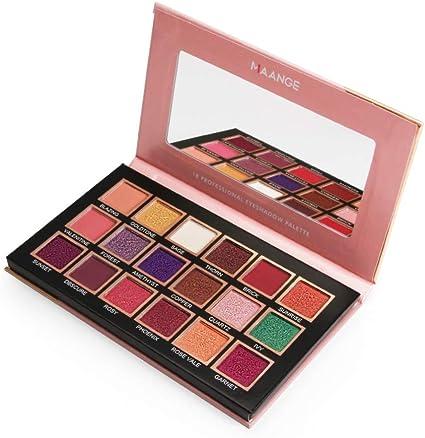 Cute Love 18 colores paleta de sombras de ojos profesional Shimmer, maquillaje paleta de sombras de ojos Shimmer High Pigment: Amazon.es: Belleza