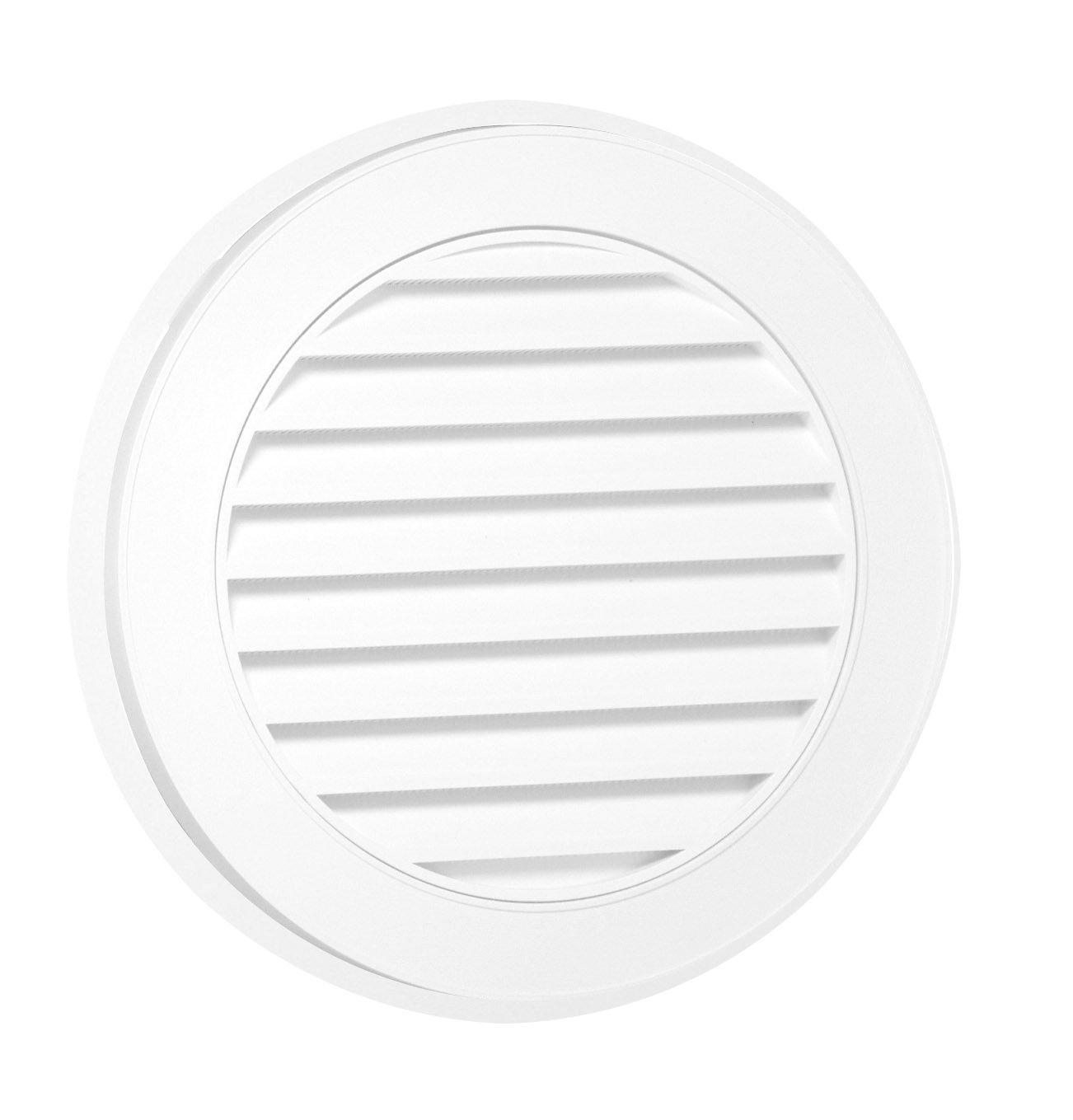Duraflo 626053-00 18-Inch Round Gable Vent, White