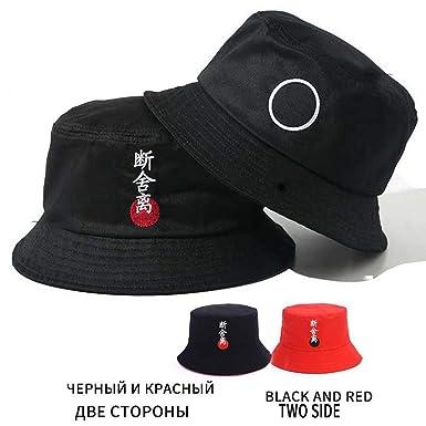 de29992fdb7b42 Cotton Unisex Casual Bucket Hat Men Women Bob Caps Hip Hop Summer Panama  Sun Cap Sad Boys Fold Sun Beach Hat Black and Red at Amazon Men's Clothing  store: