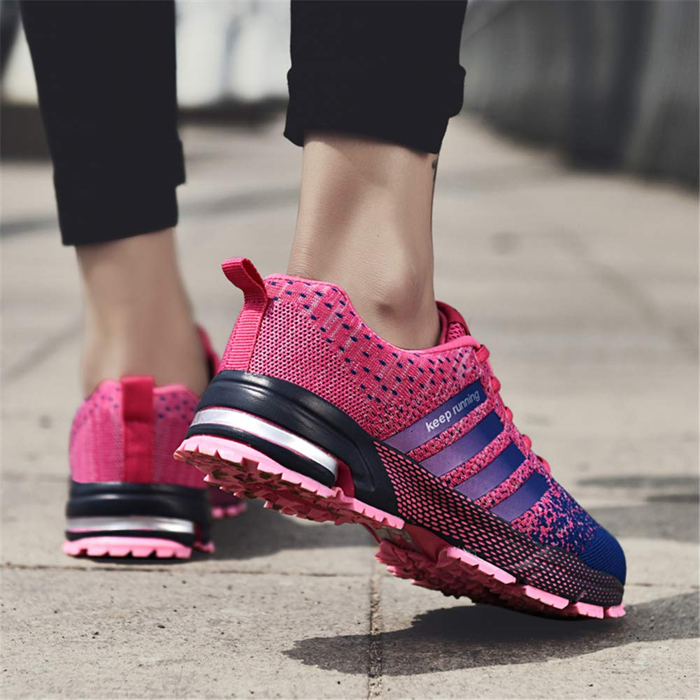 KUBUA Womens Running Shoes Trail Fashion Sneakers Tennis Sports Casual Walking Athletic Fitness Indoor and Outdoor Shoes for Women 5 B / 4 D F Purple by KUBUA (Image #6)