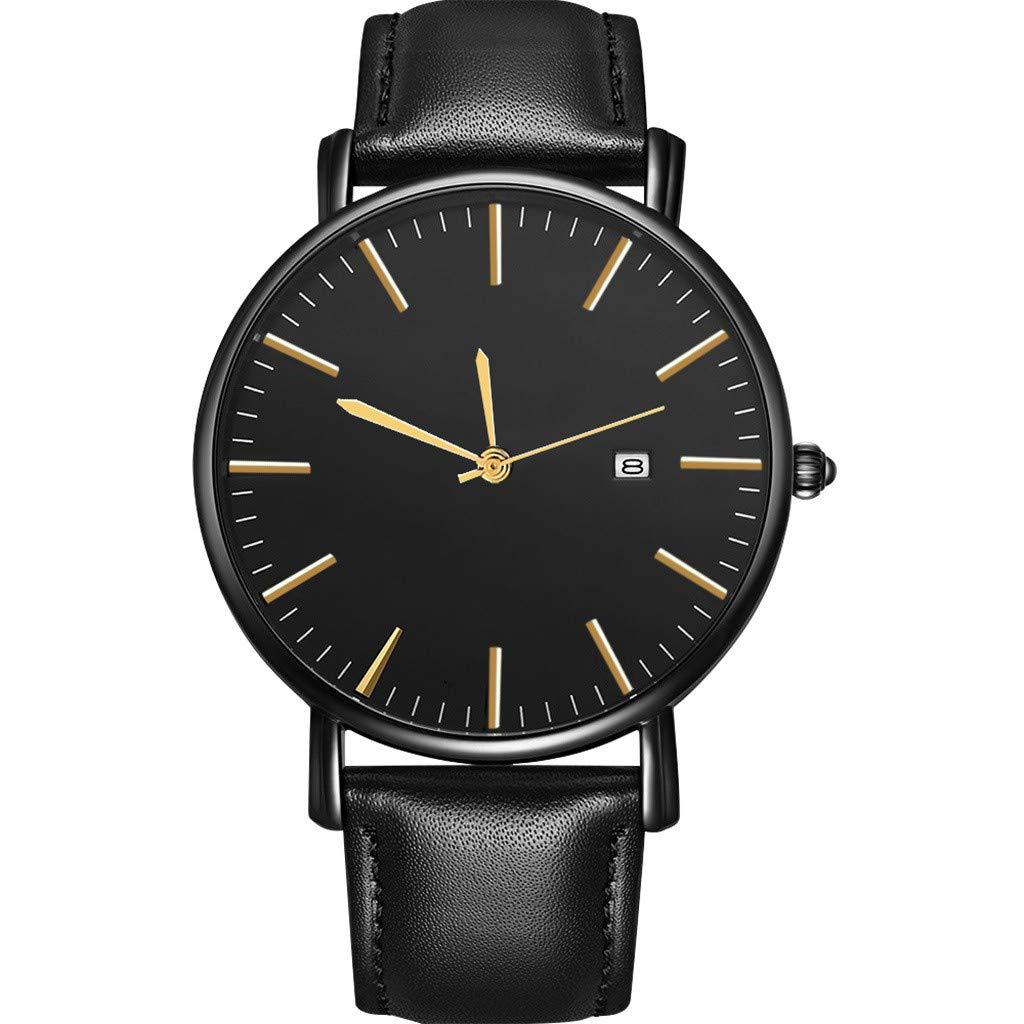Hotkey Mens Watch Box Organizer Business Casual Design Watch Stainless Steel Couple Quartz Wrist Watch