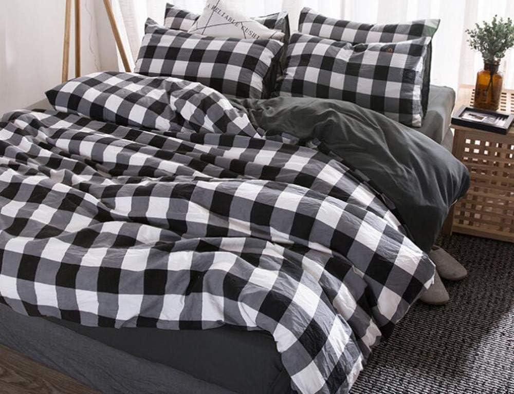 Amazon.com: Best to Buy Checkered Duvet Cover Set Queen/Full