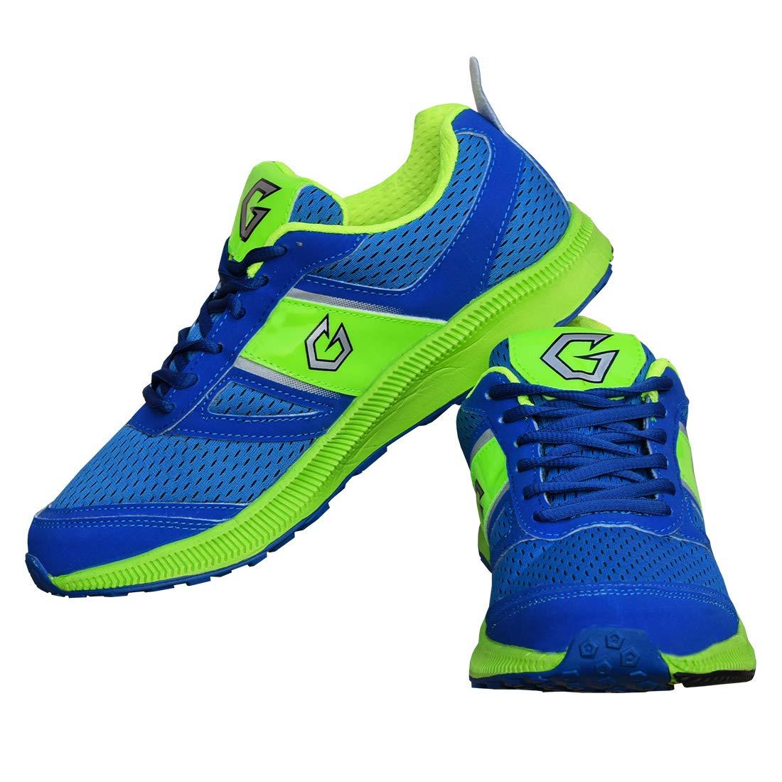 Gowin Bright Blue/Green Running Shoe