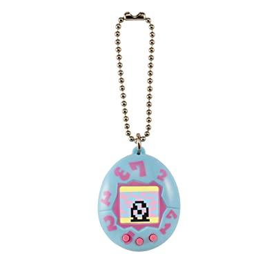 Tamagotchi mini, Blue with Pink: Toys & Games