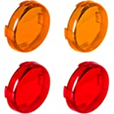 NTHREEAUTO Bullet Turn Signal Light Lens Cover Compatible with Harley Sportster Street Glide Road King Softail, Full Set…