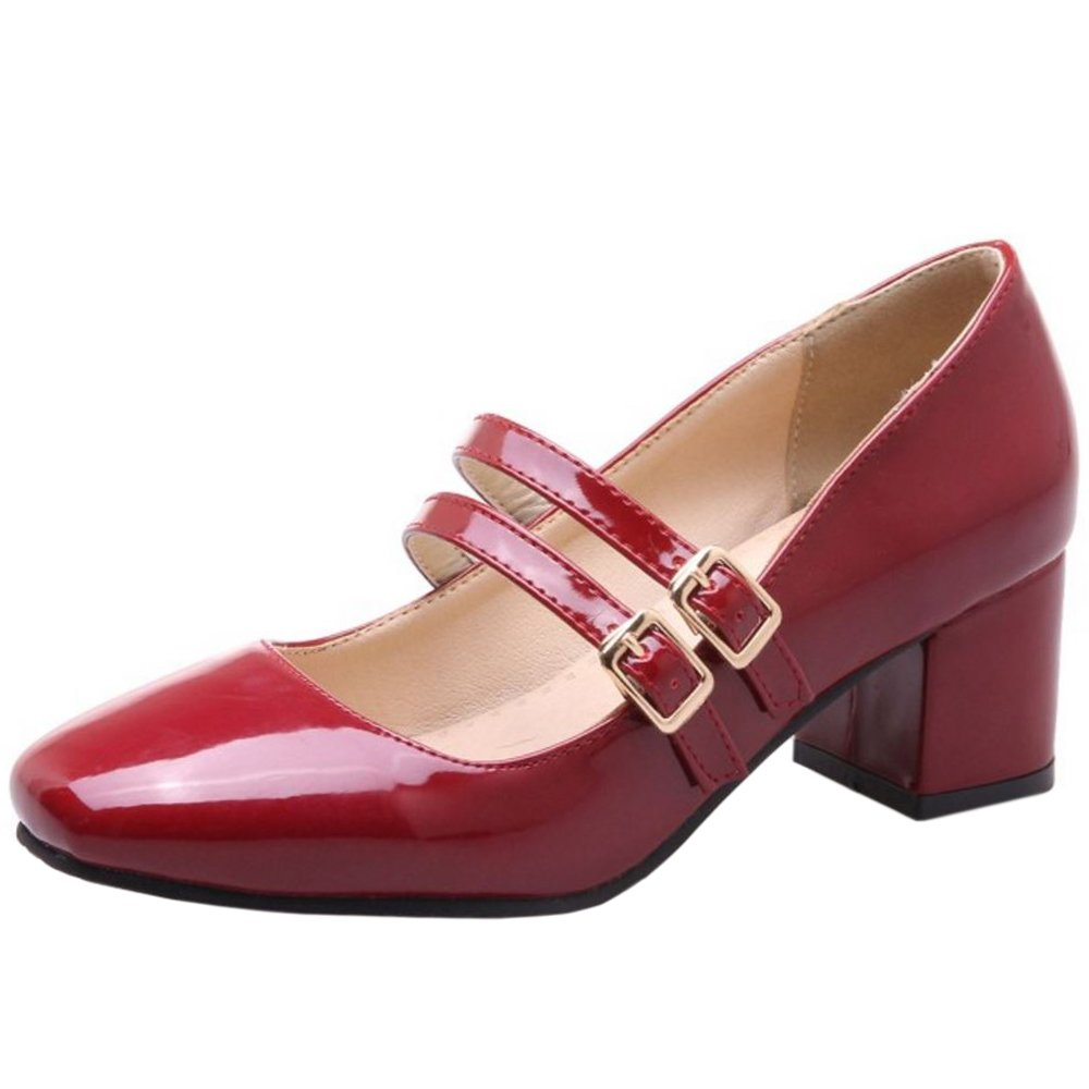 Zanpa Femmes Femmes Mode Mary Janes Big Mary Tailles Janes Claret d134733 - shopssong.space
