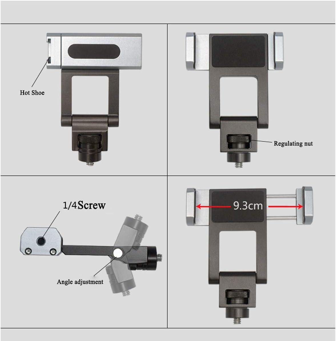 Hurricanes Universal 1//4 Screw Cellphone Clamp Mobile Phone Clip Extension Bracket for Zhiyun Weebill M 2 Crane 3 Feiyu Freevision Stabilizer Phone Holder