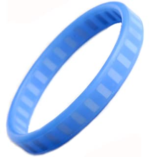 MPS IONTOPIA® SUPER-PRIME SILICONE MAGNETIC THERAPY WATERPROOF SPORT BAND BRACELET-BLUE