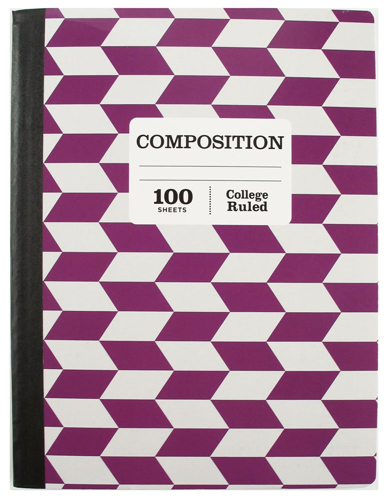 1 Subject College Ruled Composition 100 Page Notebook Sustainable Forestry Pack of 5 by Pen (Image #5)