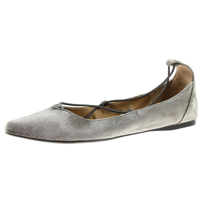 Steve Madden Womens Bora Velvet Pointed Toe Flats