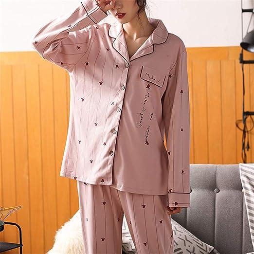DUJUN Pijama Mujer de Algodón Invierno Otoño Mangas Larga Ropa ...